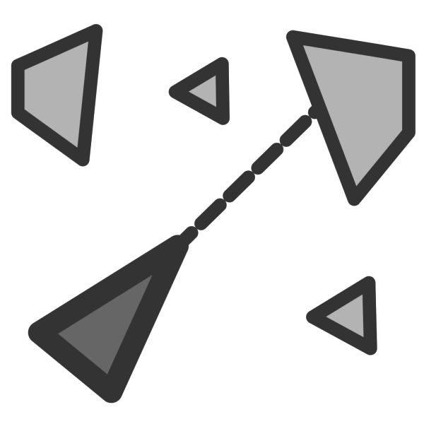 Triangles And Dotted Lines PNG Clip art
