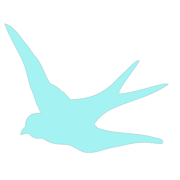 Blue Swallow PNG images