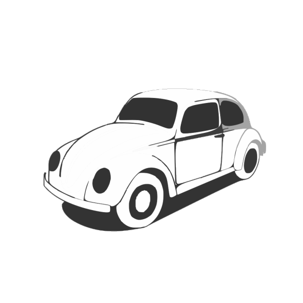 Vw Beetle Classic Black White Line Art Coloring Sheet Colouring Page Px PNG Clip art