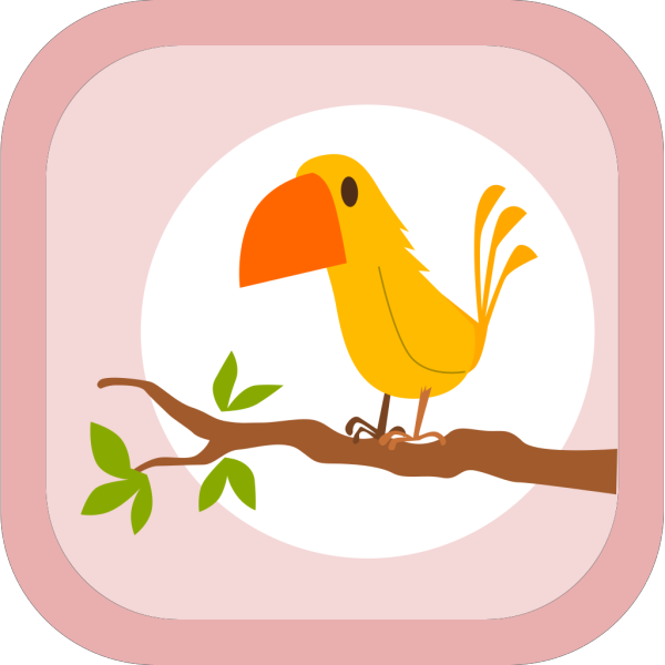 Perched Cartoon Yellow Bird PNG Clip art