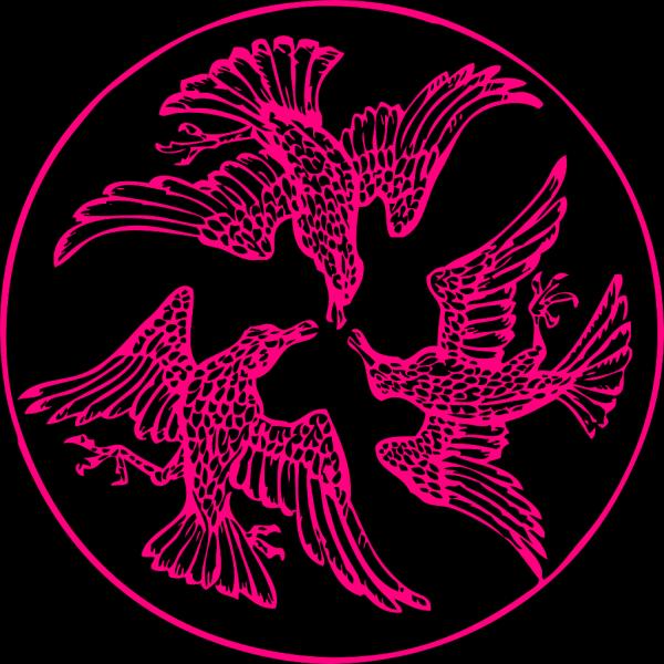Pink Birds PNG Clip art