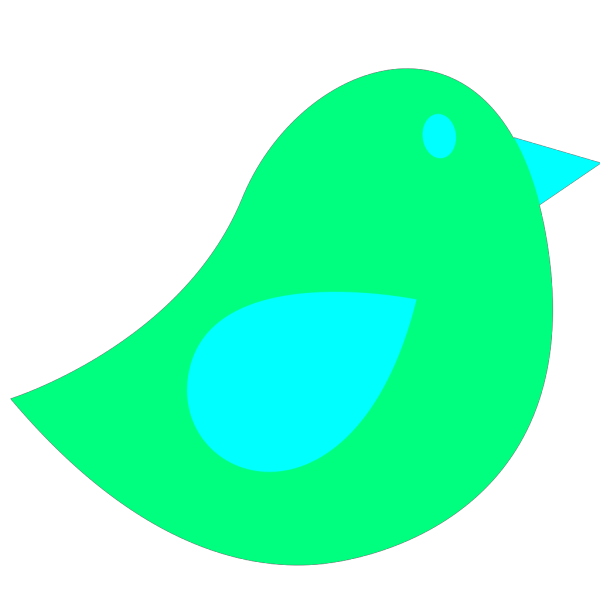 Green Little Bird PNG Clip art
