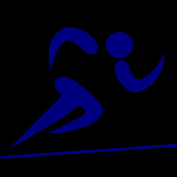 Blue Runner PNG Clip art