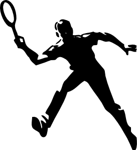 Blue Tennis Player PNG images