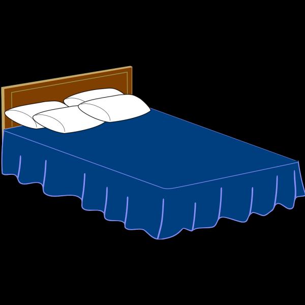 Blue Bed PNG Clip art
