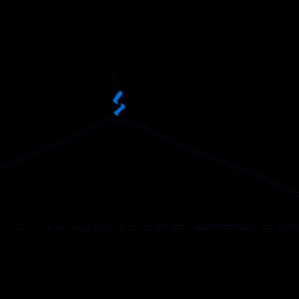 Large Blue Clothes Hanger PNG Clip art