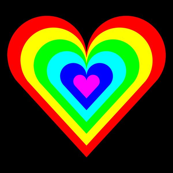 6 Color Heart PNG Clip art
