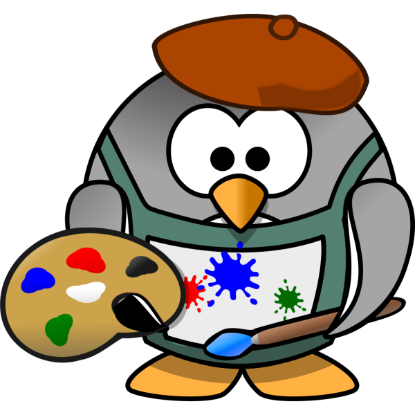 Artist Penguin PNG icons