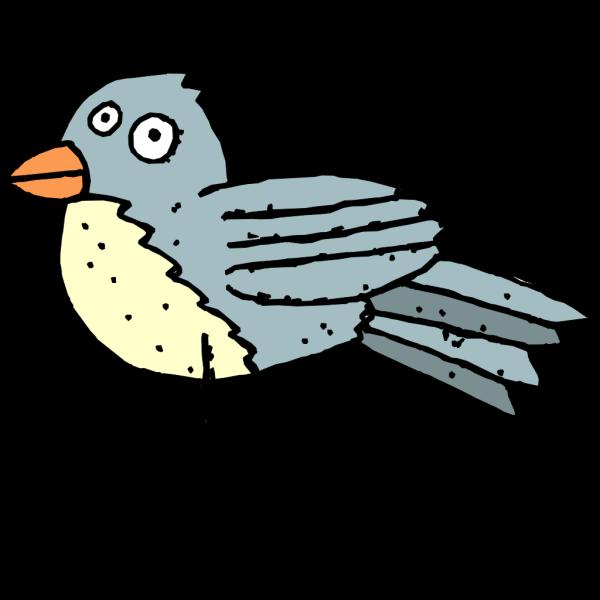 Dirty Blue Bird PNG Clip art