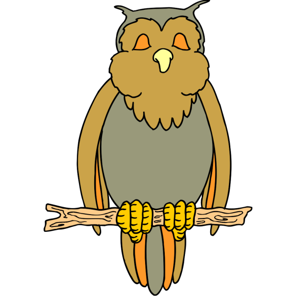Perched Cartoon Owl PNG Clip art