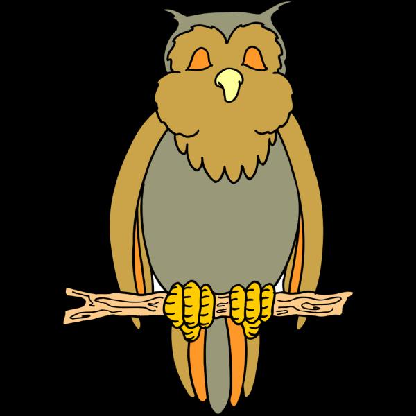 Perched Cartoon Owl PNG Clip art