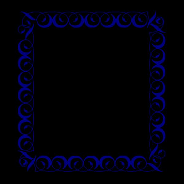 Blue Border 4 PNG Clip art