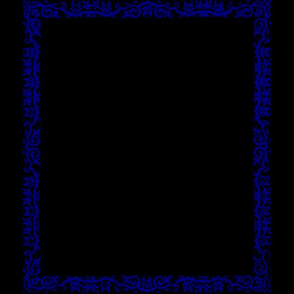 Blue Border Design Clip art