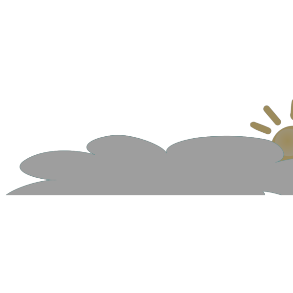 Sun With Long Cloud PNG Clip art