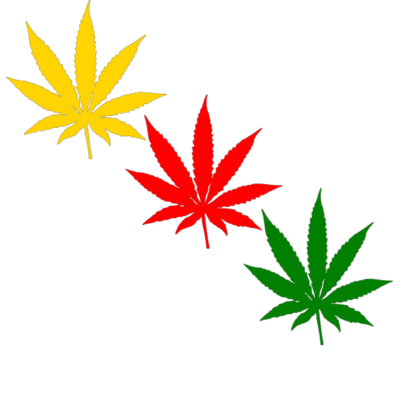 Weed Green White And Blue PNG Clip art