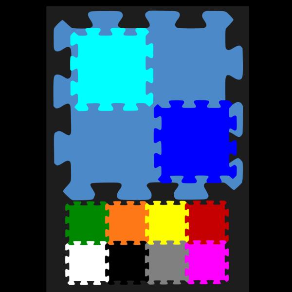 Blue Outline Puzzle PNG Clip art