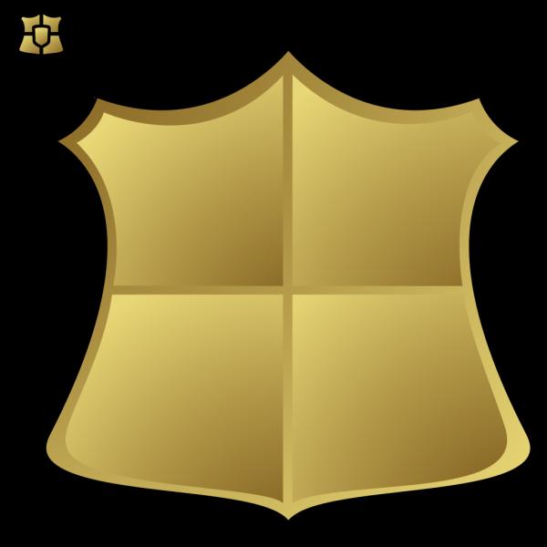 Blue Gold Shield PNG Clip art