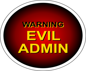 Evil Admin Warning PNG images