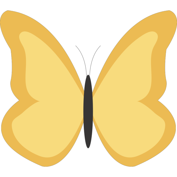 Plain Butterfly PNG images