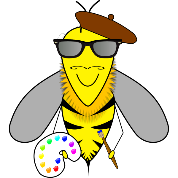 Hipster Bumblebee PNG Clip art