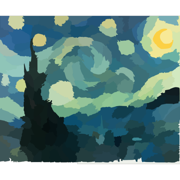Gogh Starry Night PNG images