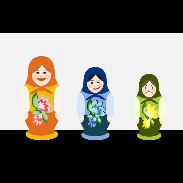 Russian Dolls PNG Clip art