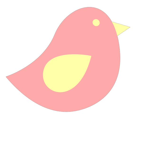 Pinke And Yellow Birdie PNG Clip art