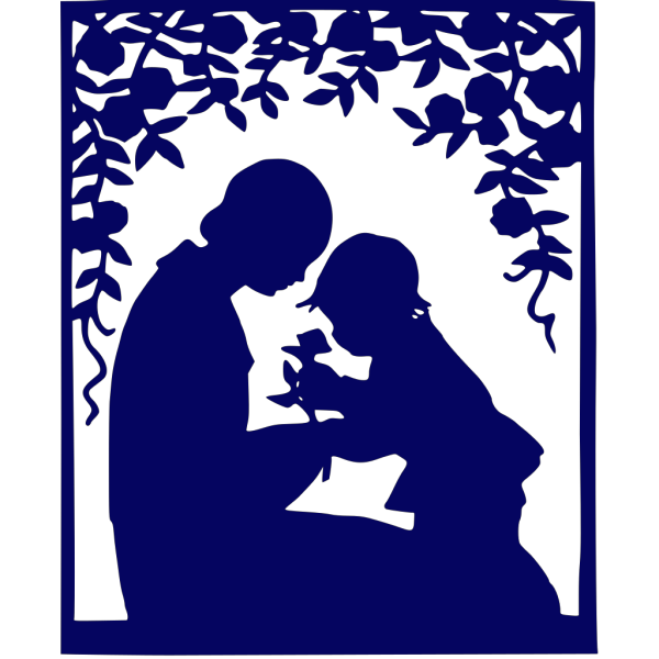 Mother & Child Blue PNG images