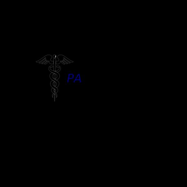 Blue Caduceus PNG Clip art