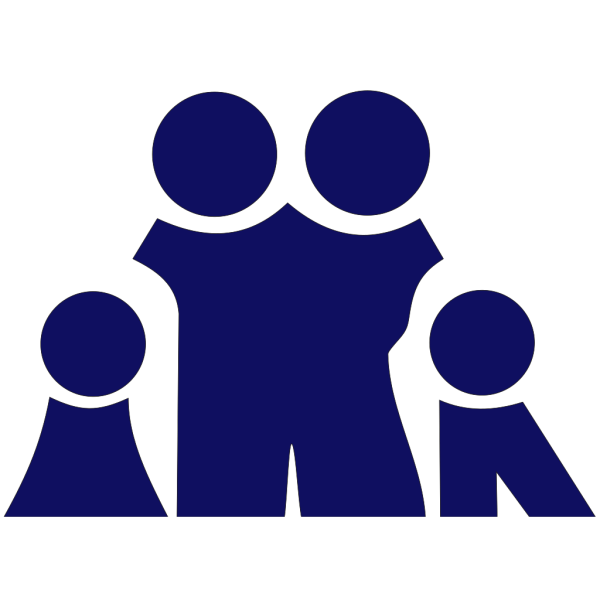 Blue Family PNG Clip art