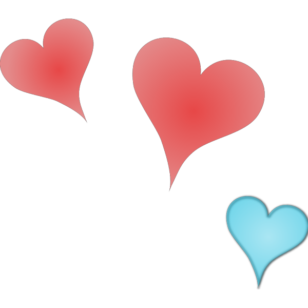 Three Hearts PNG Clip art