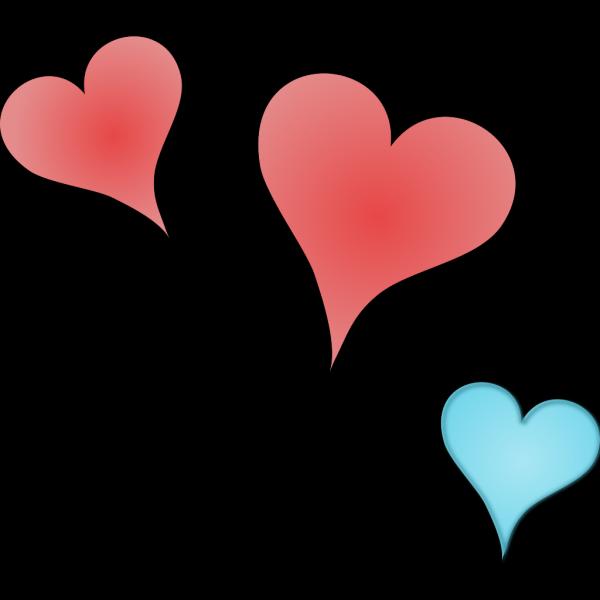Three Hearts Clip art