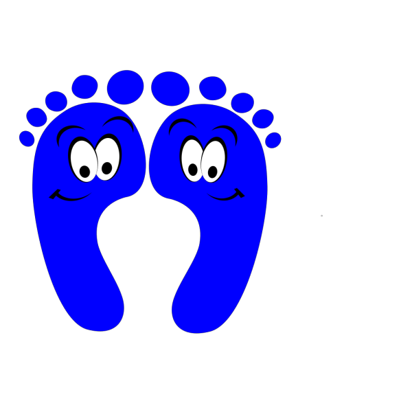 Blue Happy Feet PNG image