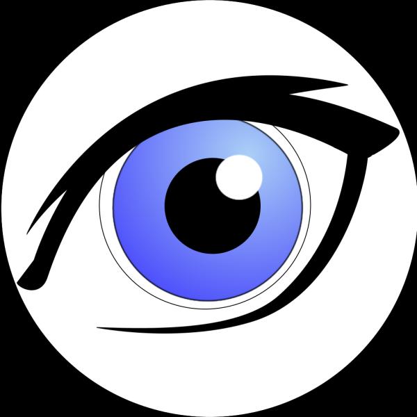 Blue Eye With Eyeliner PNG Clip art