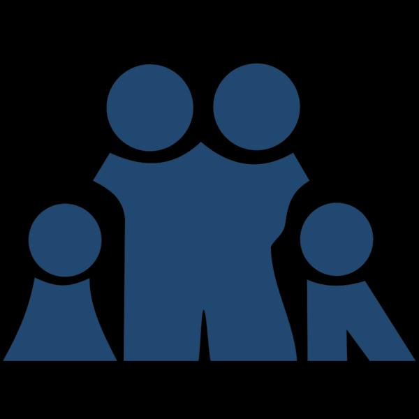Slate Blue Family PNG Clip art