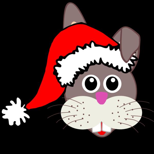 Santa Bunny PNG Clip art