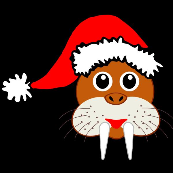 Santa Walrus PNG Clip art