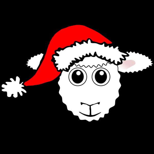 Santa Sheep PNG Clip art