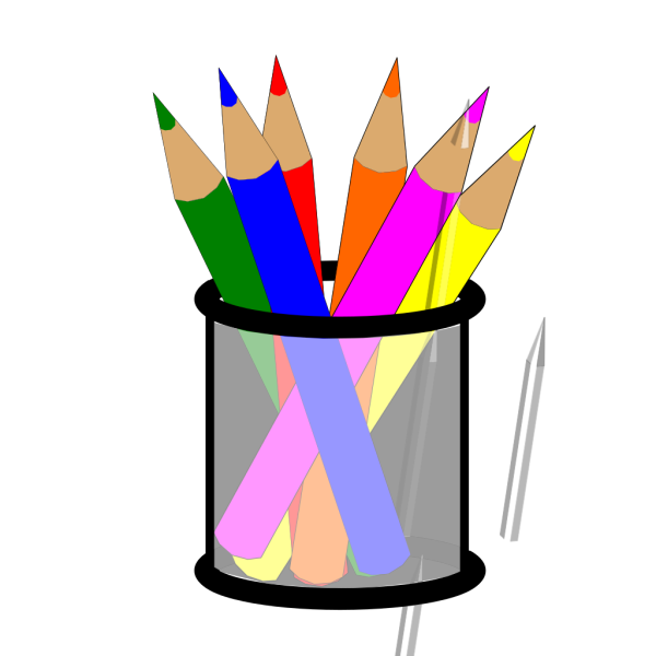 Colored Pencils In Cup PNG Clip art