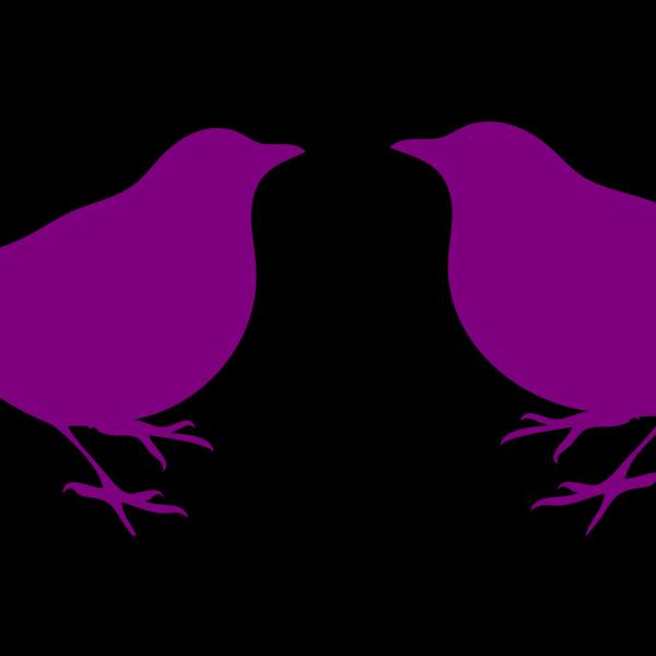 Purple Birds PNG Clip art