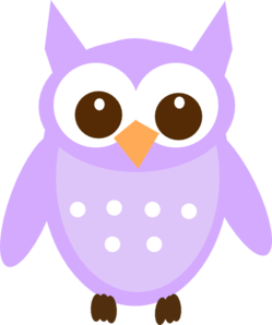 Gold And Purple Owl PNG Clip art