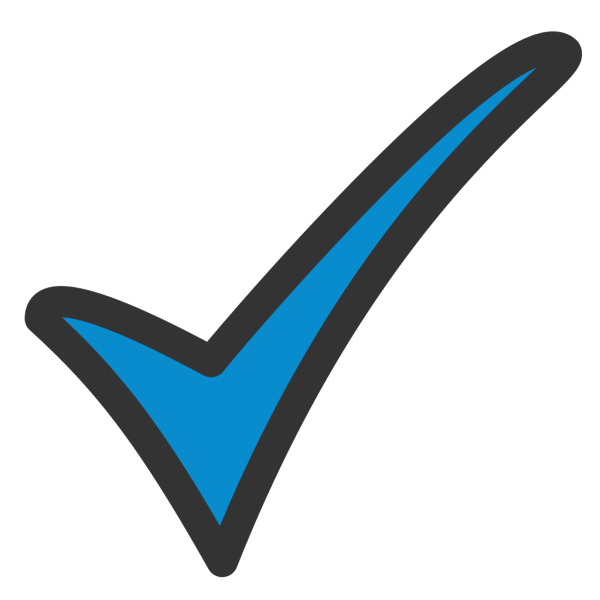 Blue Tick PNG images