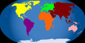 Global Map Blue PNG Clip art