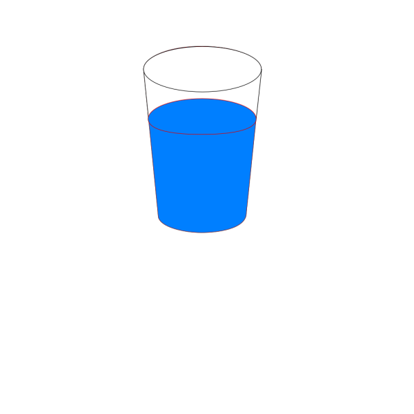 Cup Of Blue Water PNG Clip art