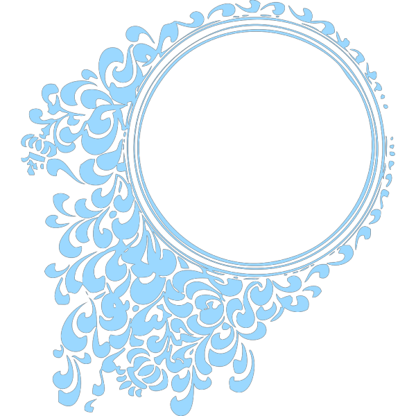 Robin Blue Circle Frame