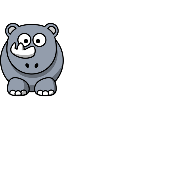 Cartoon Rhino Clip Art PNG Clip art
