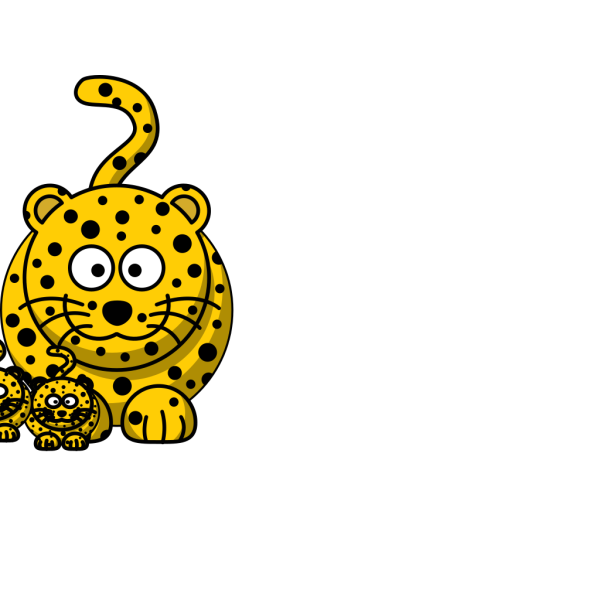 Leopard Baby Clip Art PNG icons