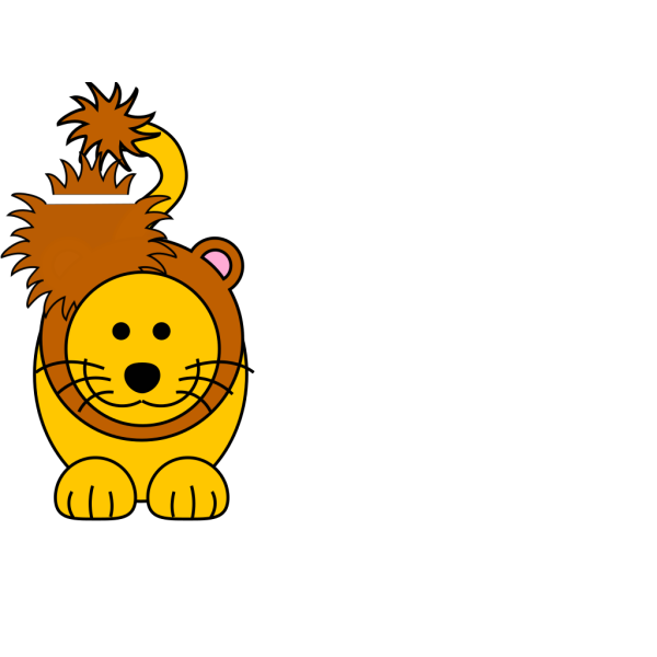 Cartoon Golden Lion PNG icon
