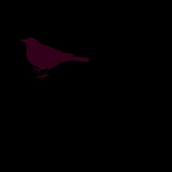 Pink Bird Profile PNG Clip art