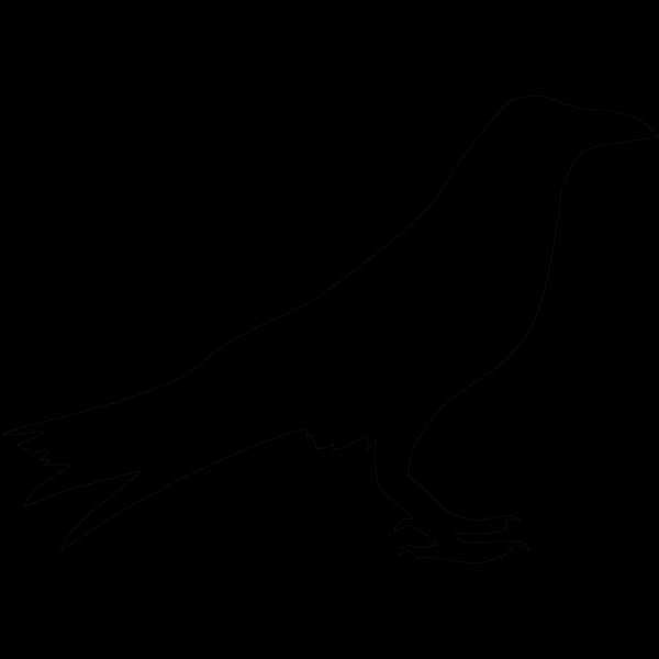 Crow Outline PNG Clip art